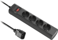 POWER STRIP IEC C14 TO 4 OUTLET